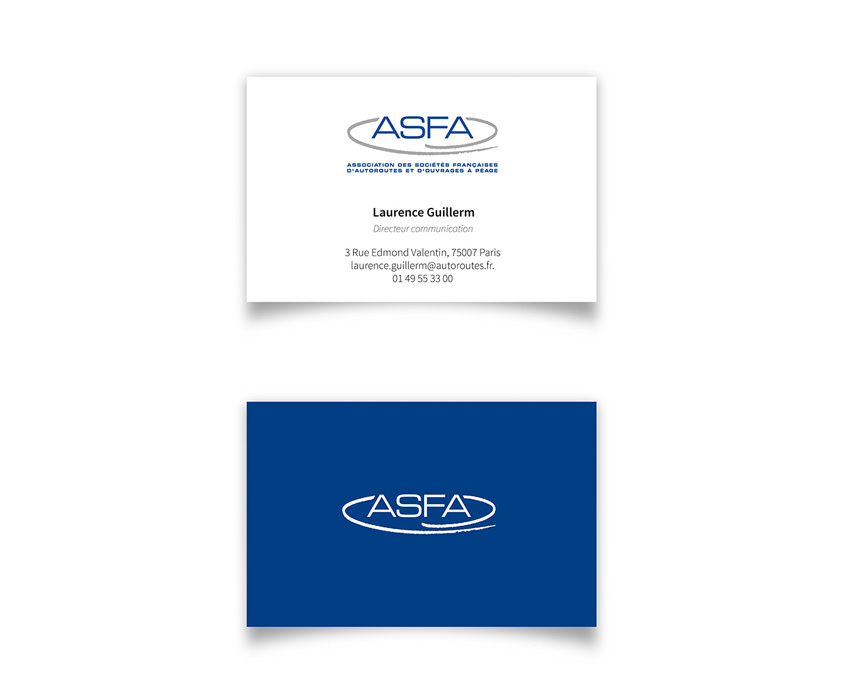 Conception et réalisation de cartes de visite pour ASFA