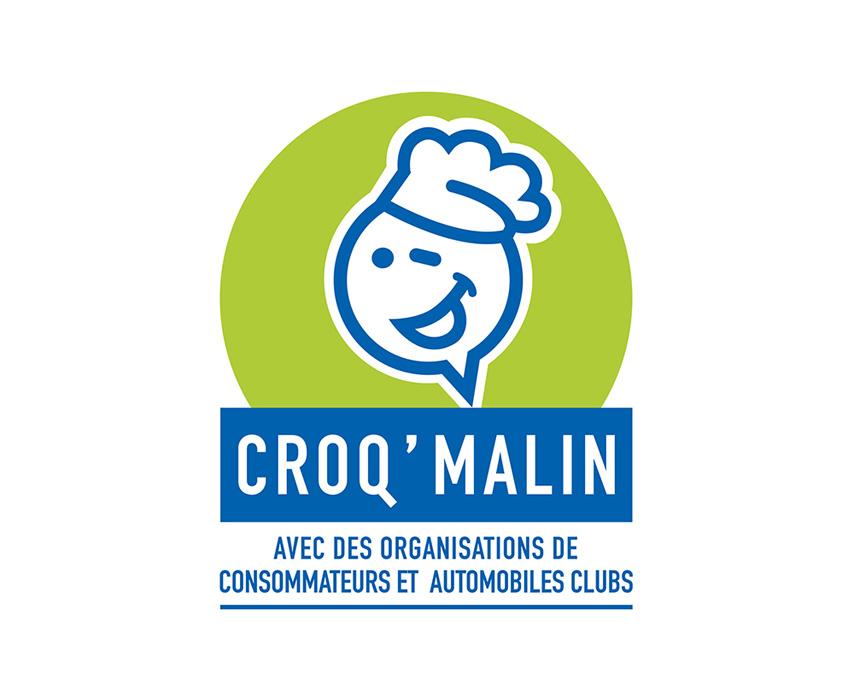 Conception et réalisation du logo pour CROQ' MALIN