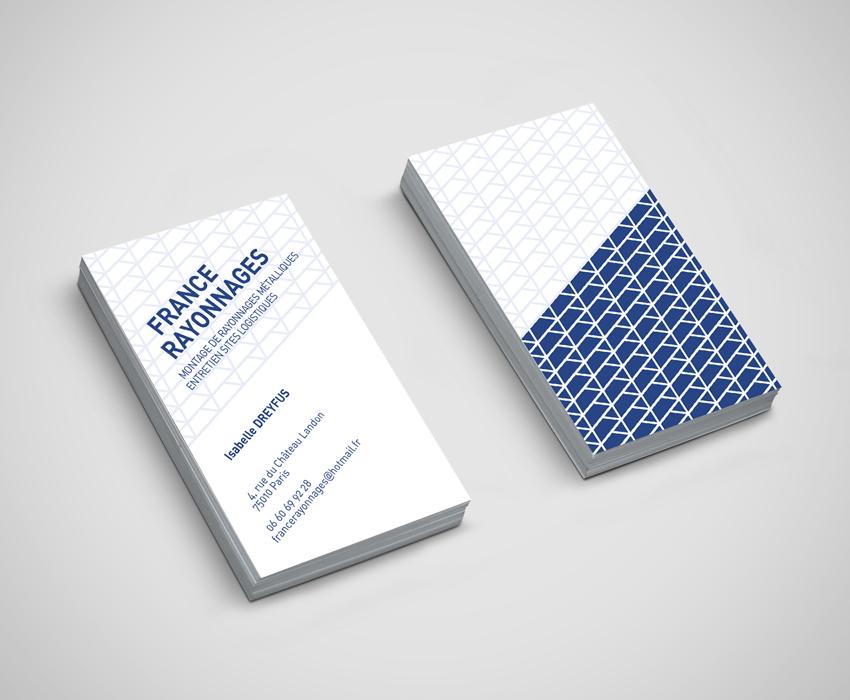 Logo et cartes de visite FRANCE RAYONNAGES