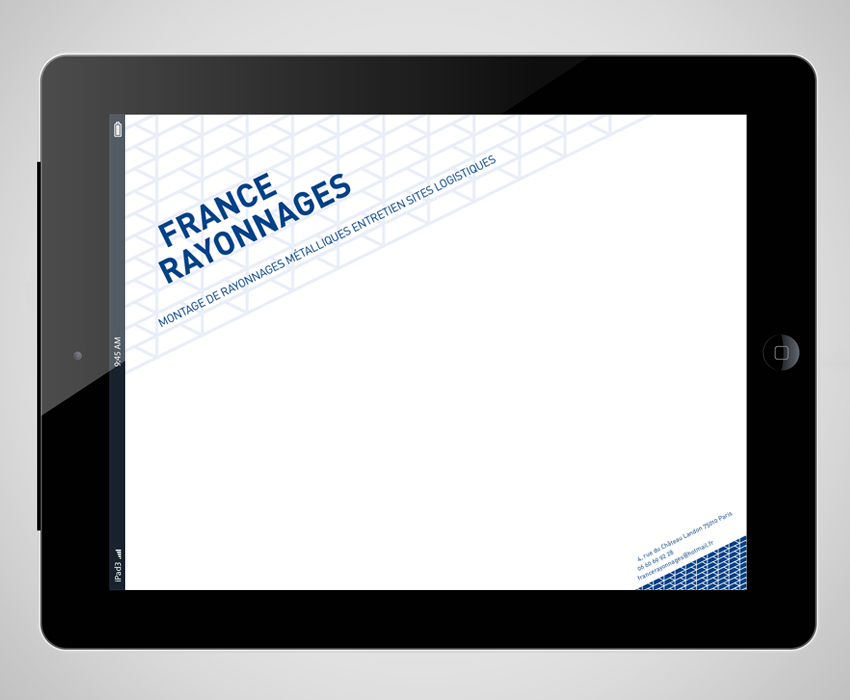 Masque PowerPoint pour iPad