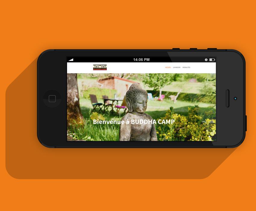 Buddha Camp - Homepage su site Internet